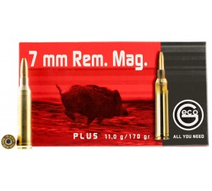 Патрон нарезной Geco 7mm. Rem. Mag. Plus