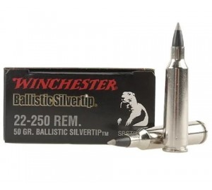 Патрон нарезной Winchester 22-250 REM. Ballistic Silvertip