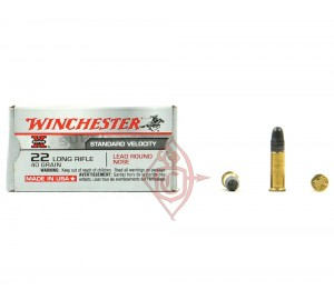 Патрон нарезной Winchester Super-X 22 LR пуля LRN