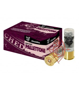 Патрон гладкоствольный Cheddite BUCK SHOT PALLETTONI  кал. 12/70 №11/0