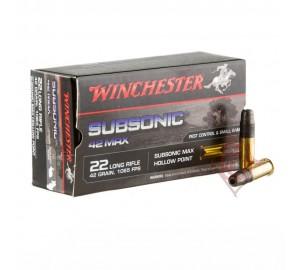 Патрон нарезной Winchester Subsonic 22 LR пуля SMHP