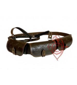 Патронташ кожаный однорядный на 18 патронов